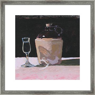 Glass And Jug Framed Print by Robert Bissett