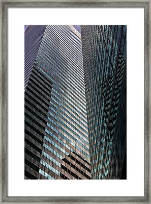 Glass And Metal Architecture Citicorp Center Nyc Framed Print by Robert Ullmann