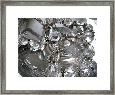 Glass And Silver Framed Print by Lindie Racz