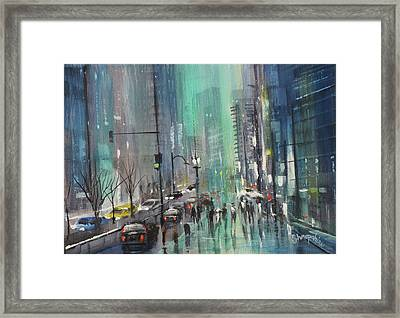 Glass And Steel Framed Print