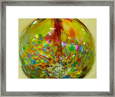 Glass Balloon Framed Print by ARTography by Pamela Smale Williams