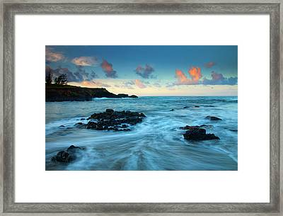 Glass Beach Dawn Framed Print by Mike  Dawson