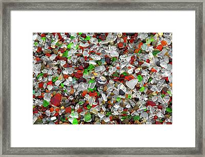 Glass Beach Fort Bragg Mendocino Coast Framed Print