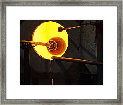 Glass Blowing Framed Print