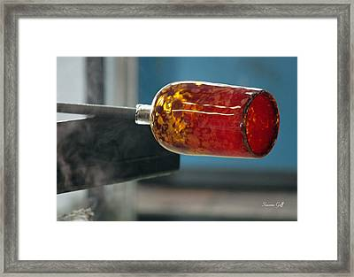 Glass Blowing Vii Framed Print by Suzanne Gaff