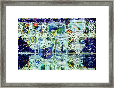 Glass Blues Framed Print