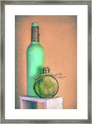 Glass Bottle Composition Framed Print