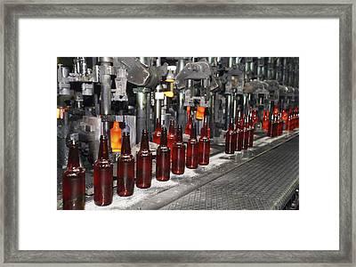 Glass Bottle Production Line Framed Print