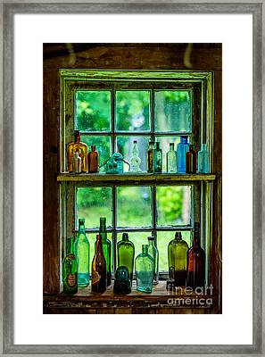 Glass Bottles Framed Print