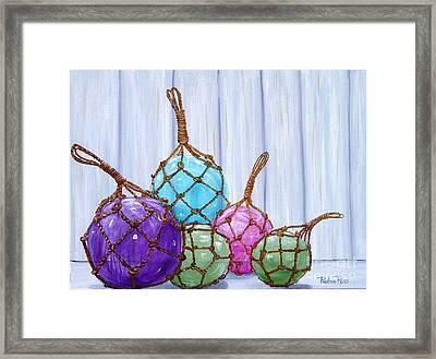 Glass Bouys Framed Print by Pauline Ross