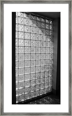 Glass Brick Window Framed Print by Tony Grider