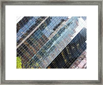 Glass Buildings 4 Framed Print by Robert Knight