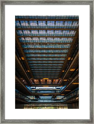 Glass Ceiling Framed Print by Kristopher Schoenleber