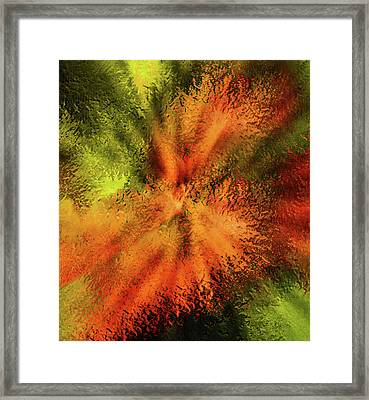 Glass Cosmos Abstract  Framed Print