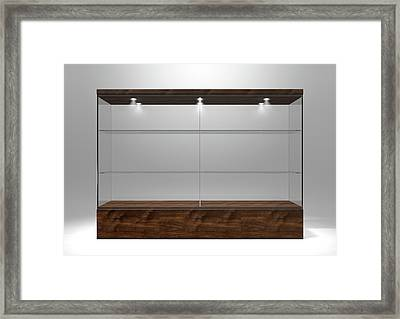 Glass Display Cabinet Framed Print