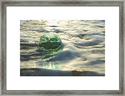 Glass Fishing Floats Framed Print by Mary Van de Ven - Printscapes