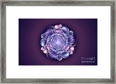 Glass Flower Framed Print