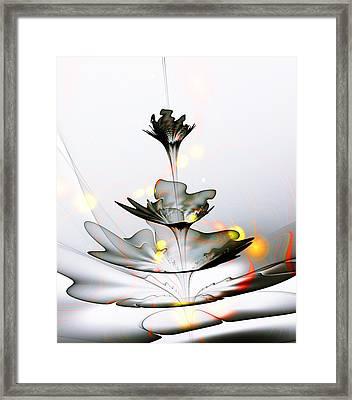 Glass Flower Framed Print by Anastasiya Malakhova