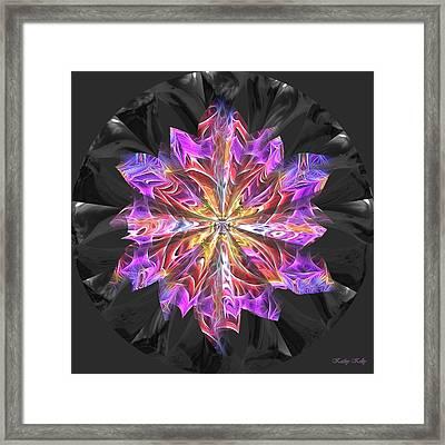 Glass Flower Framed Print by Kathy Kelly
