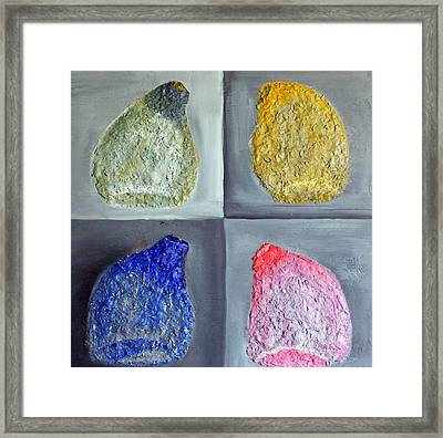 Glass Full Of Shapes Framed Print by Leslye Miller