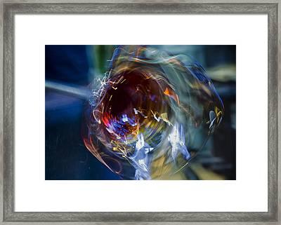 Glass In Motion Framed Print