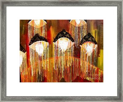 Glass Jellyfish Framed Print by Sabrina Phillips