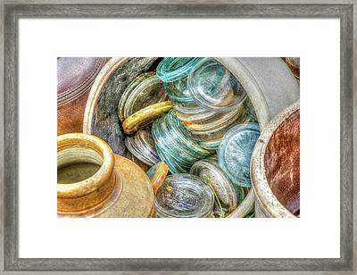 Glass Lids Framed Print
