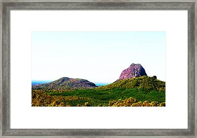 Glass Mountains - Extinct Volcanos Framed Print by Susan Vineyard