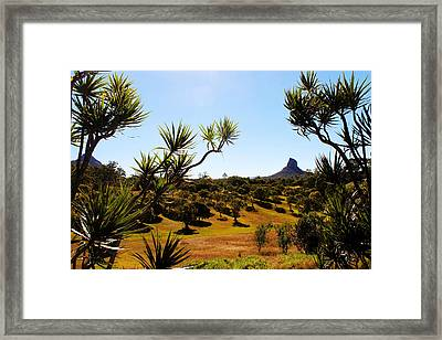 Glass Mountains Framed Print by Susan Vineyard