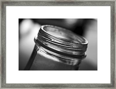 Glass Mouth Framed Print