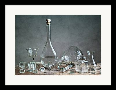 Glass Table Reflection Framed Prints