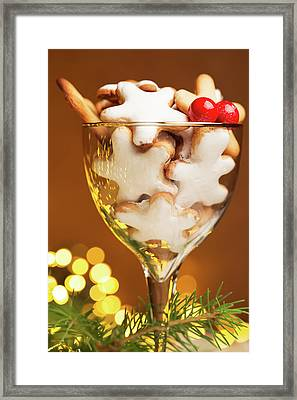 Glass Of Christmas Cookies  Framed Print by Vadim Goodwill