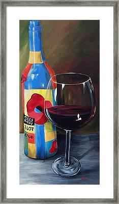 Glass Of Merlot   Framed Print by Torrie Smiley