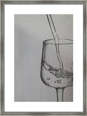 Glass Of Pure Water  Framed Print by Daria Snow