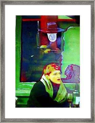 Glass Of Red Framed Print