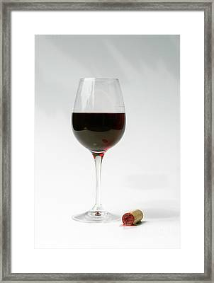 Glass Of Red Wine Framed Print by Patricia Hofmeester