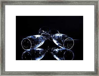 Glass Of Shampagne Framed Print
