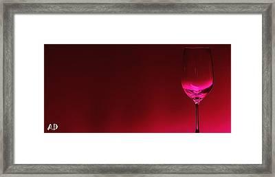 Glass Of Wine Framed Print