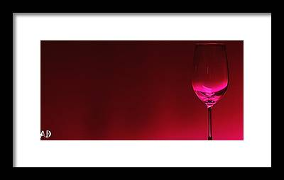 Wine Glasses Framed Prints