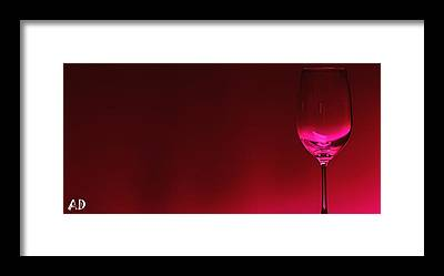Wine Digital Art Framed Prints