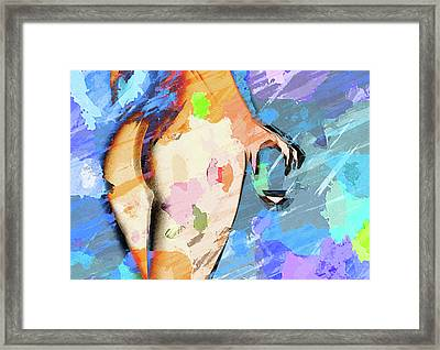 Glass Of Wine Framed Print by Naman Imagery