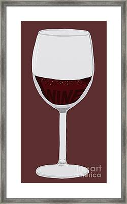 Wine Framed Print by Priscilla Wolfe