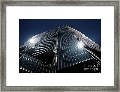 Glass Office Building Framed Print by Oleksiy Maksymenko