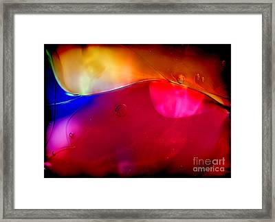 Glass Paint Abstract Dark Framed Print