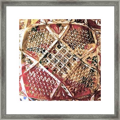 Glass Pillow Framed Print