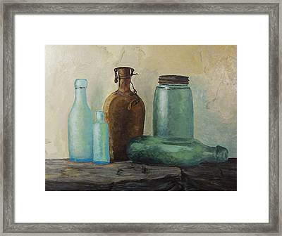 Framed Print featuring the painting Glass by Rachel Hames