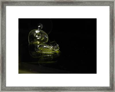 Framed Print featuring the photograph Glass Shard by Susan Capuano
