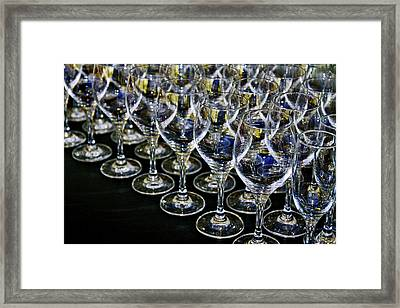 Framed Print featuring the photograph Glass Soldiers by Stephen Mitchell