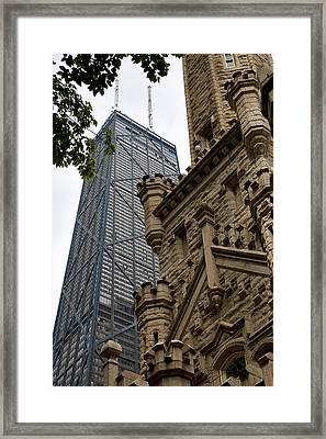 Glass Steel And Stone Framed Print