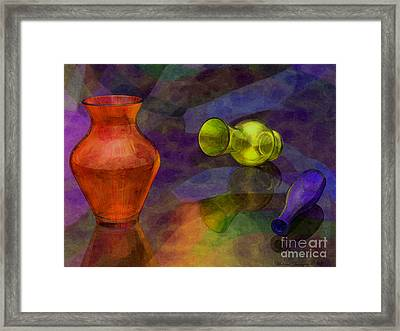 Glass Still Life - Amcg - 14012016 30 X 22.5 Framed Print by Michael Geraghty